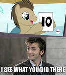 Comic: Doctor Whooves and David Tennant