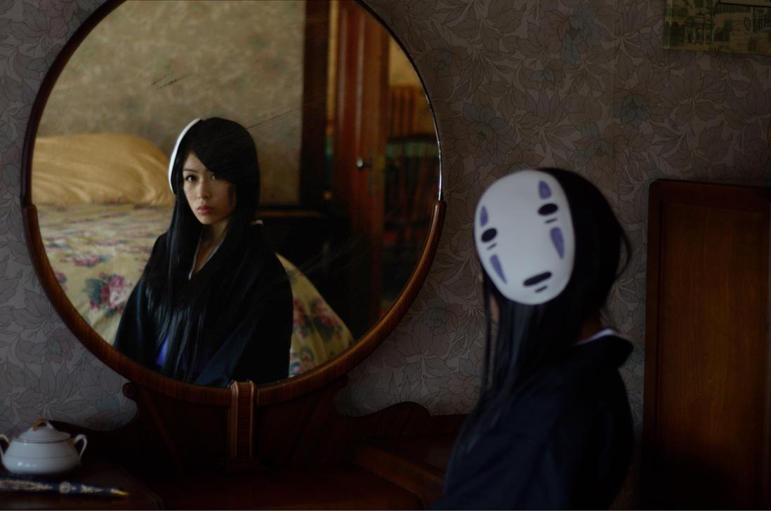 spirited away no face kaonashi gijinka cosplay by