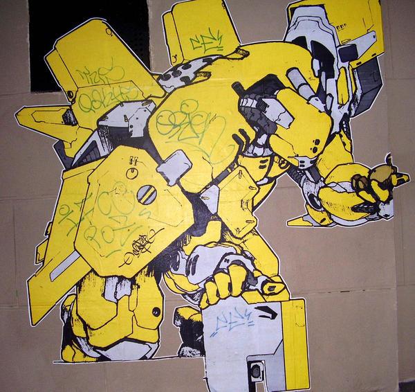 Graffiti Sticker in Paris by derrekk