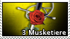 3 Musketiere Stamp by CapraScriba