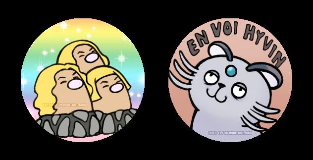 Pokemon stickers by Kata-elf