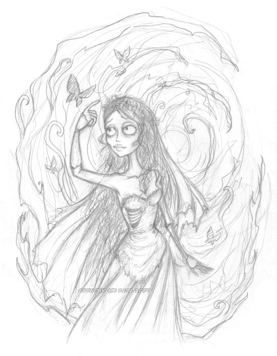 Corpse Bride Sketch By Kata Coloring Pages