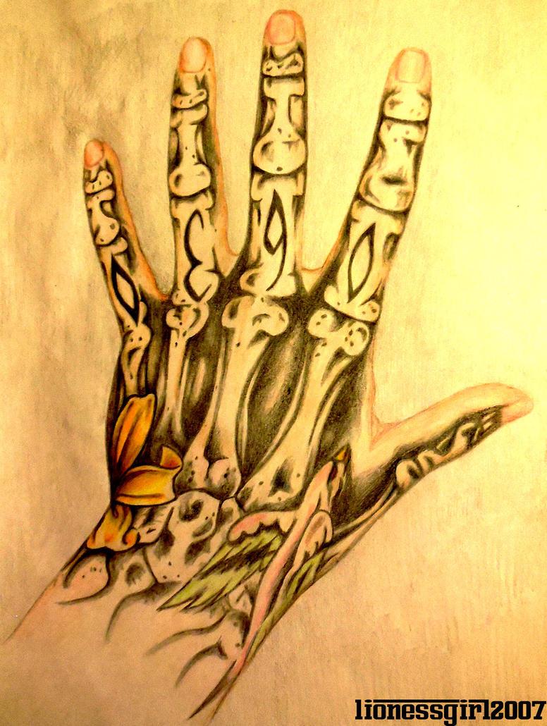 Hand Tattoo by lionessgirl2007