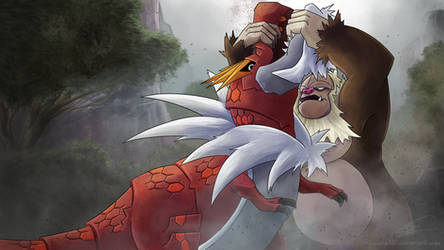 SlaKONG vs Tyrantrum by ShawnnL