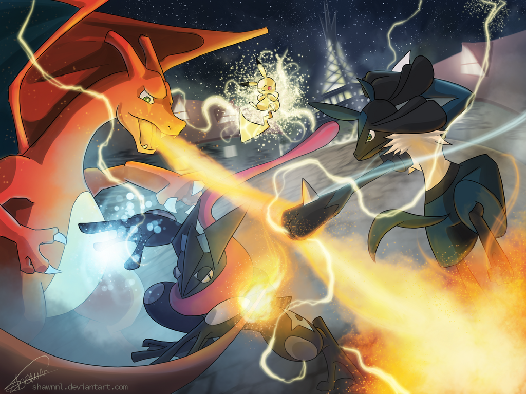 Topic des fanarts Nintendo  - Page 36 Super_smash_pokemon__by_shawnnl-d7f938x
