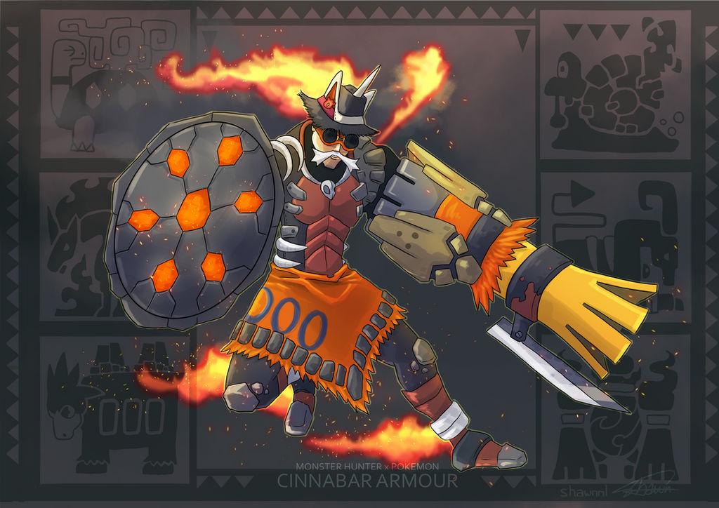 MH X POKEMON - Cinnabar Armour