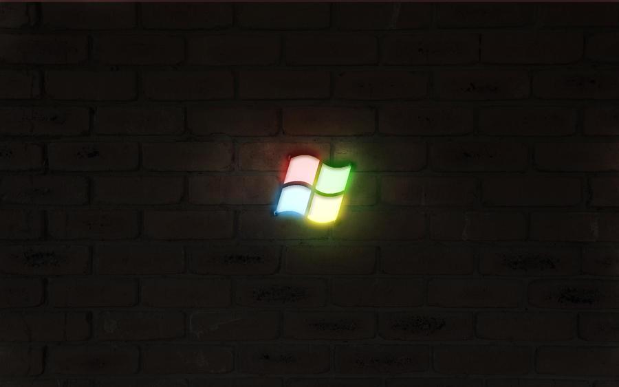 Windows neon Logo