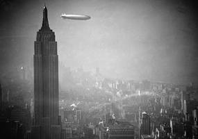 The zeppelin Hindenburg 1936