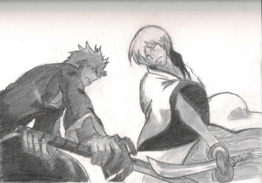 Ichigo vs Gin by taylorla5