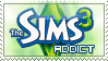 The Sims 3 Addict Stamp by BeforeIDecay1996