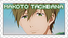 Request: Free! - Makoto Tachibana Stamp by BeforeIDecay1996
