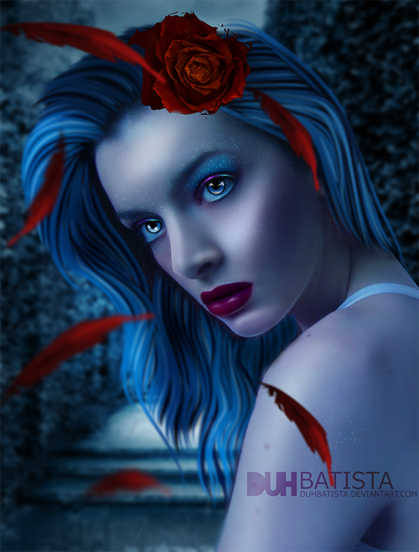 Red Feather Girl by DuhBatista