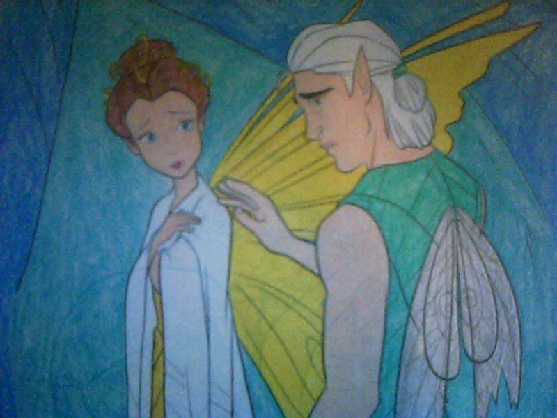 Queen Clarion and Lord Milori by Kailie2122Queen Clarion And Lord Milori Kiss