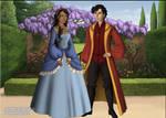 Prince Zuko and Katara in Tudor style