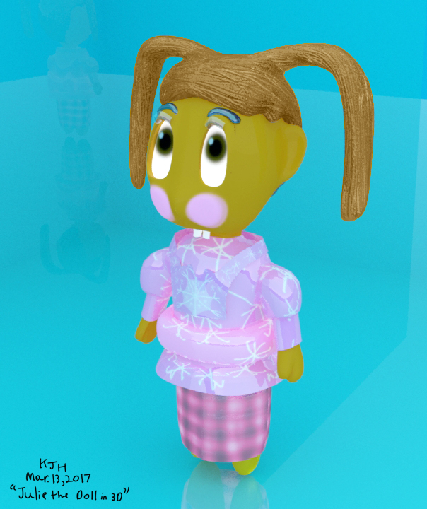 Julie The Doll In 3D by KJHArtStudios