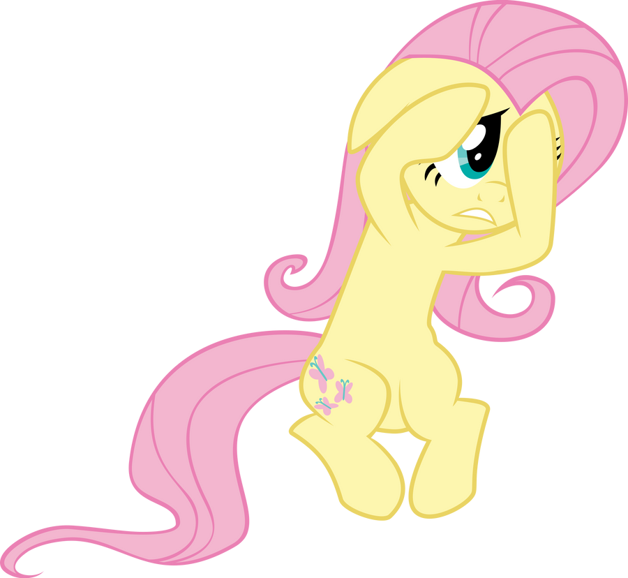 Scared Fluttershy~ by LunaBubble-Ede96 on DeviantArt