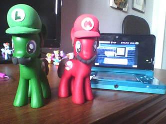 Mario and Luigi - Pony Paradox by StratMLP