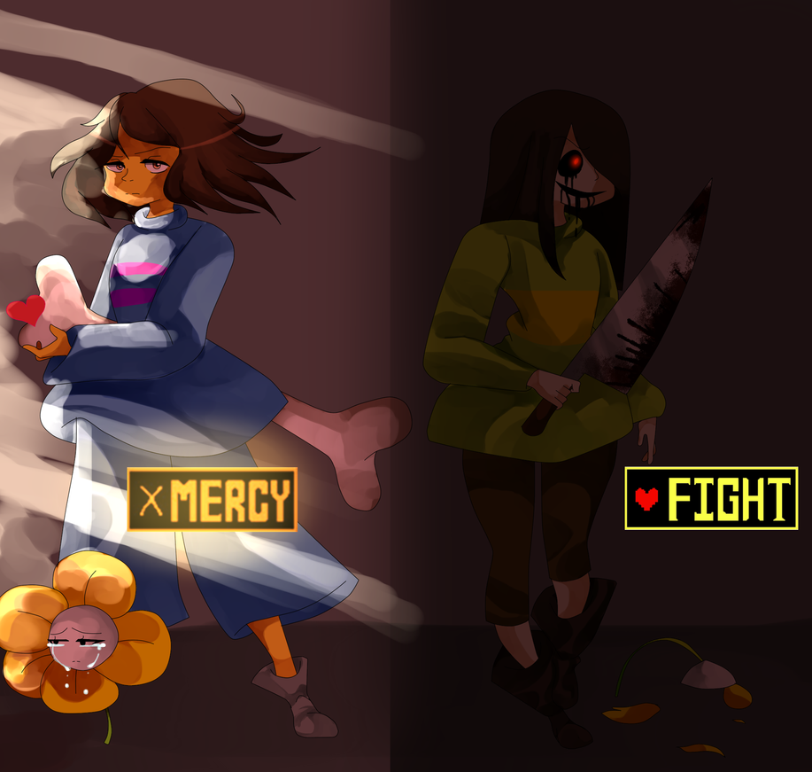 UNDERTALE SPEEDPAINT MERCY OR FIGHT By HexDoodlez