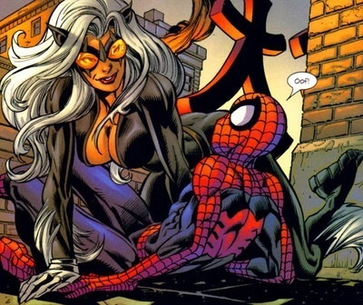 Ultimate Spiderman Black Cat Vomits