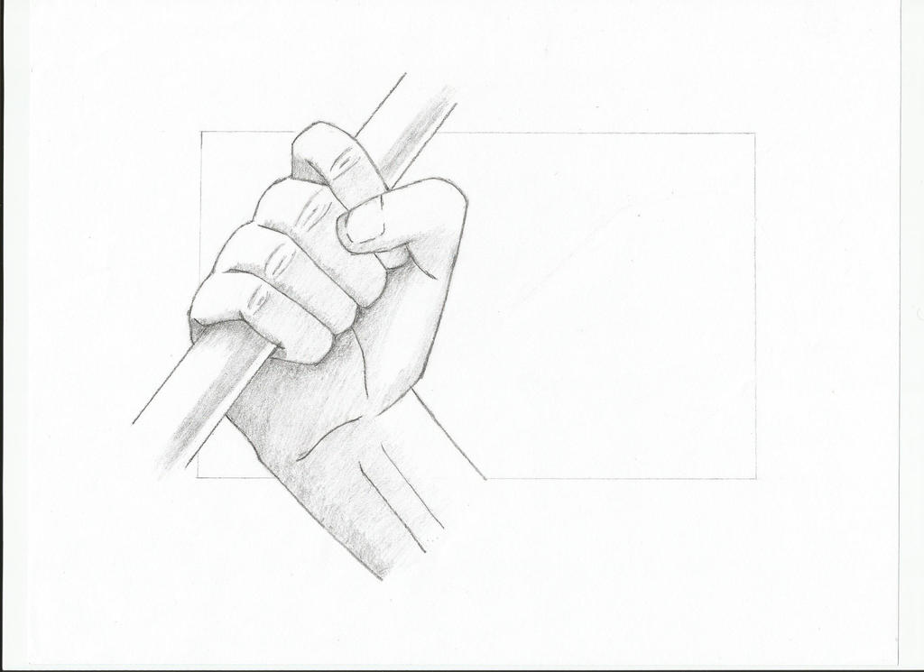 Hand Holding Pole Drawing Hand Holding a Pole by