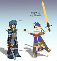 Marth and Ike by U-l-t-r-o-s