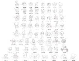 1-8 Robot Masters head sketch by U-l-t-r-o-s