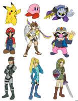 9 SSBB characters by U-l-t-r-o-s