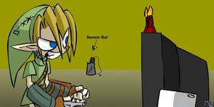 Link plays TP with candles
