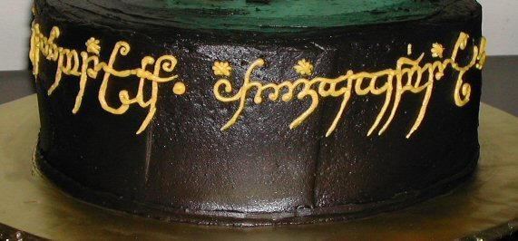 Cake art Elvish script 1 by scamper