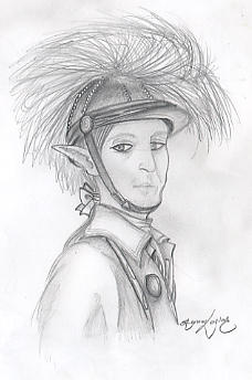 Tavvy Potrait in Pencil by Green-Dragoons