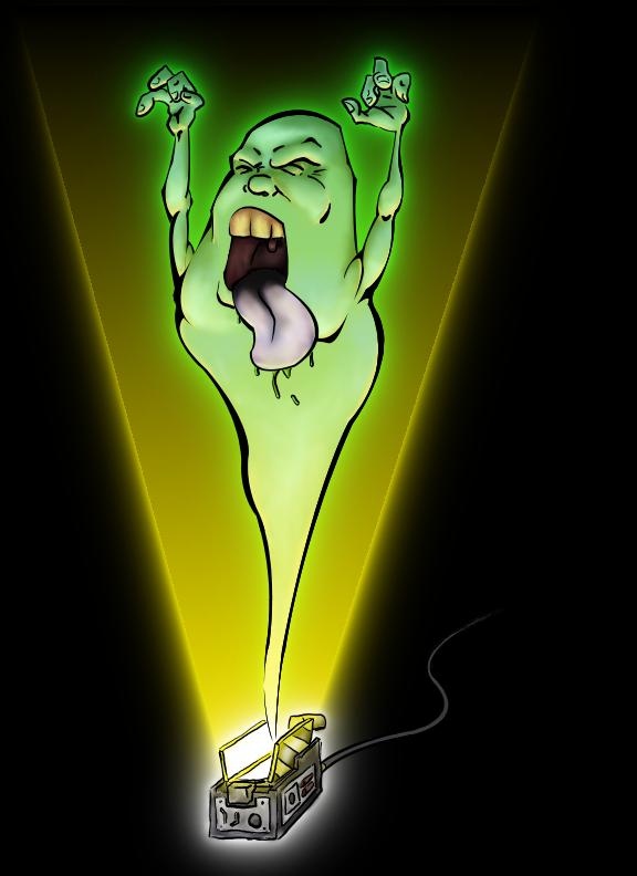 Slimer by TravisTheGeek