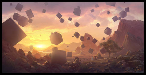 Floating Cubes