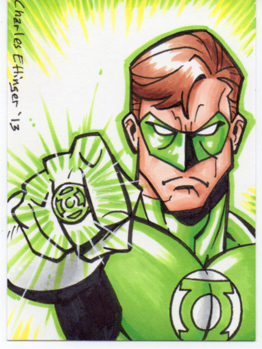 Green lantern sketch card by CharlesEttinger