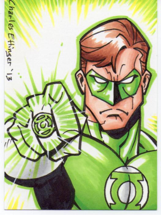 Green lantern sketch card by CharlesEttinger