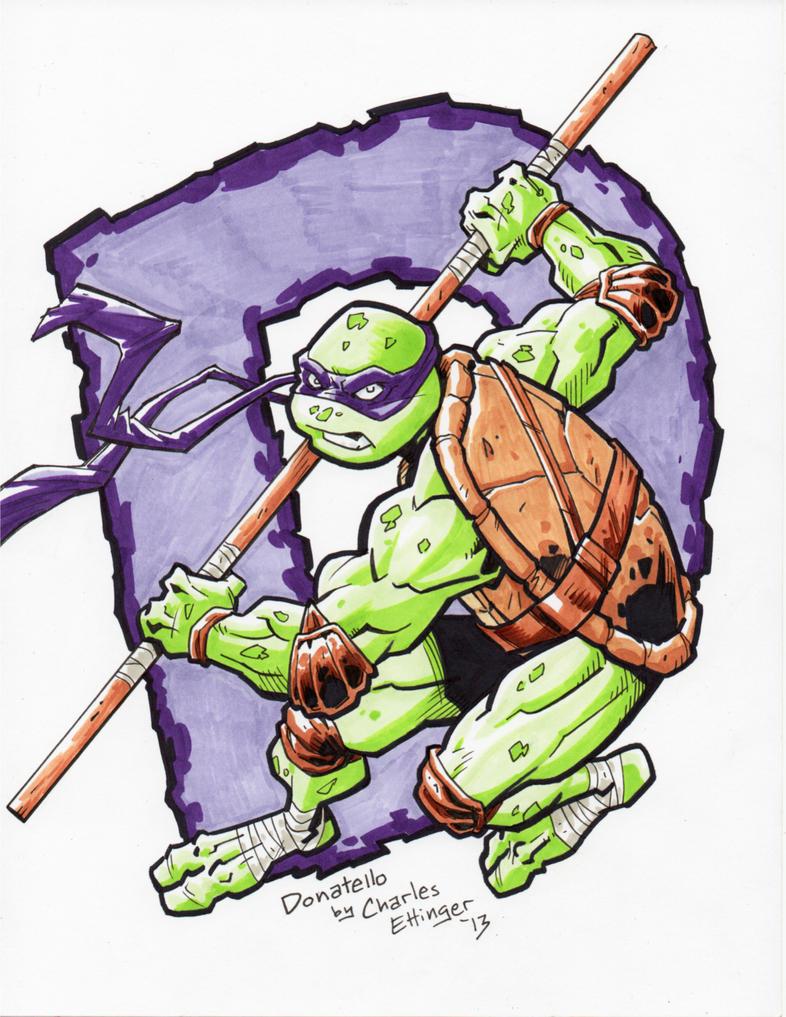 Ninja Turtle Drawing Donatello