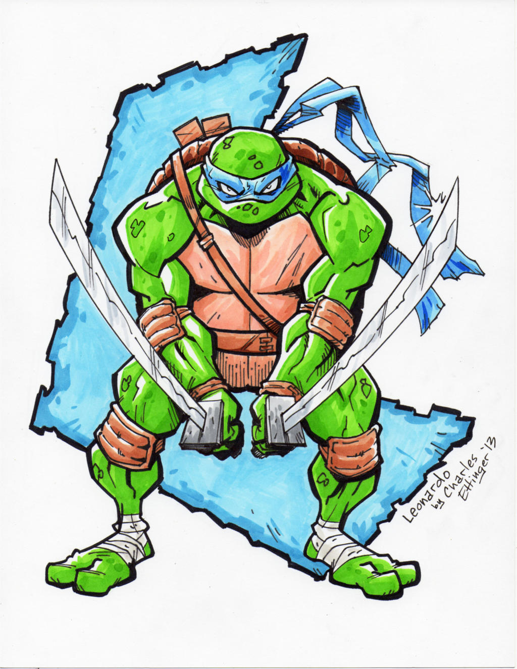 TEENAGE MUTANT NINJA TURTLES LEONARDO by CharlesEttinger ...