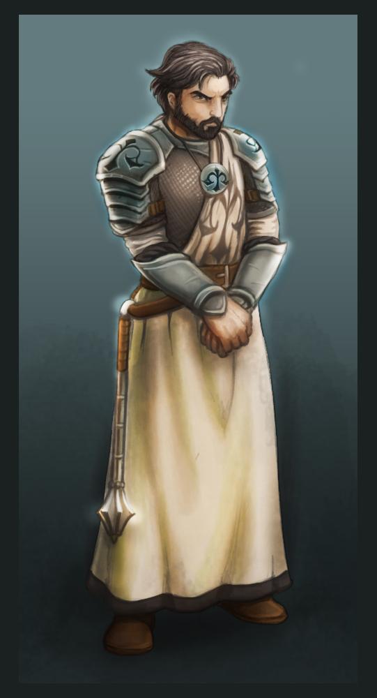 Human Cleric level 01 by zironeto