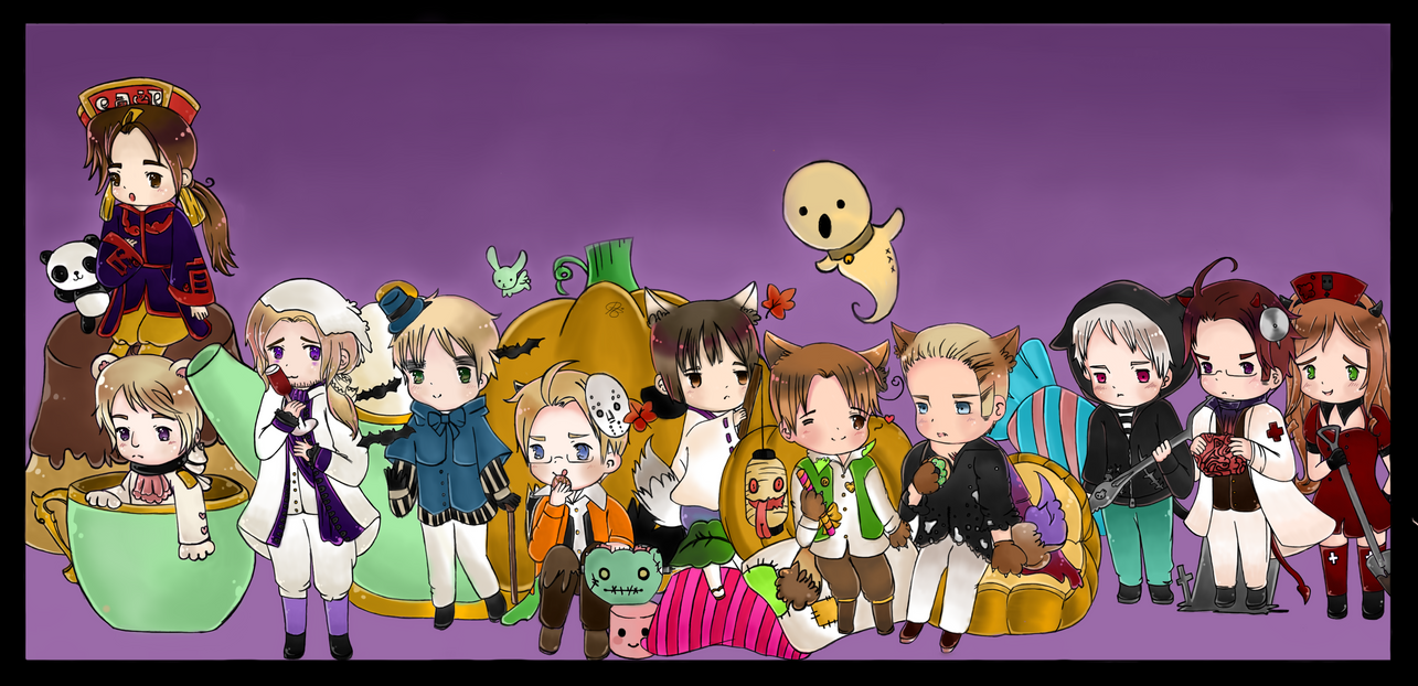 Hetalia Halloween by iCanadianBacon