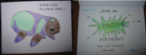 Baneling Plushie Birthday Card by diotrans