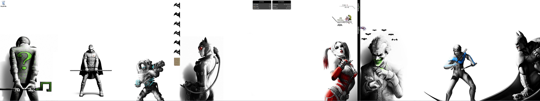 batman-arkham city-3 monitor desktop-in progresssilhouette35 on