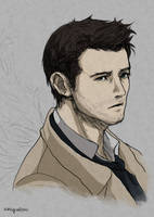 Supernatural Castiel practice by Nazgullow