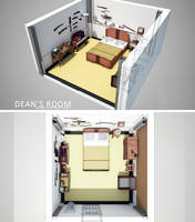 Supernatural - Dean's Room by Nazgullow