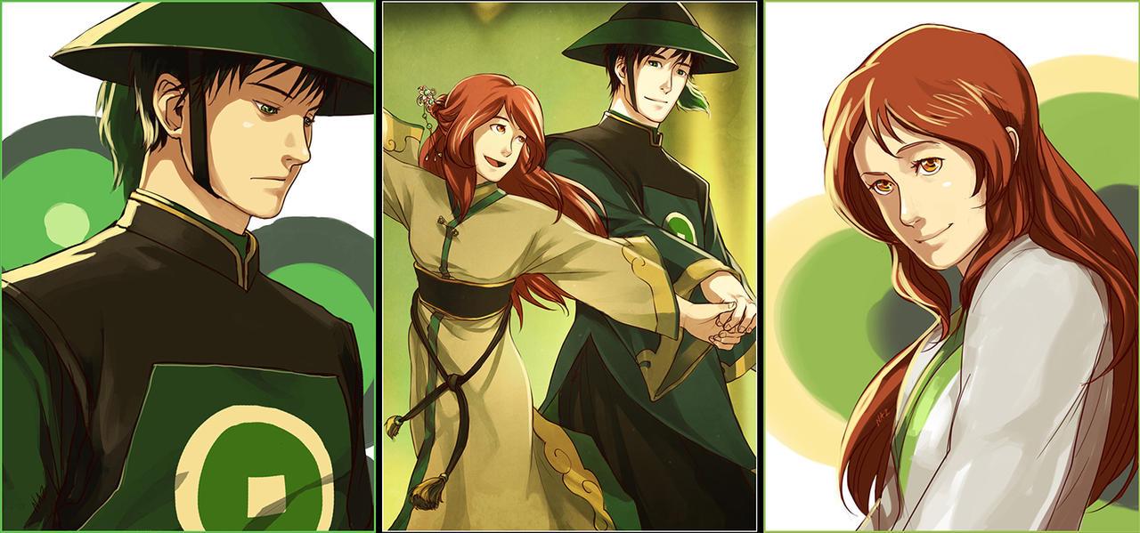 Art Trade with Minnichi - Silent Hero in Emerald