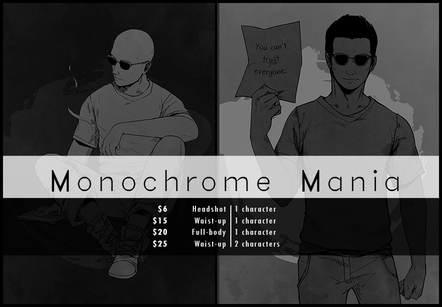 Monochrome Mania Banner by Nazgullow