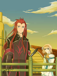 Asch and Natalia by Nazgullow