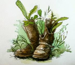 Forgotten Boots by FinchFight