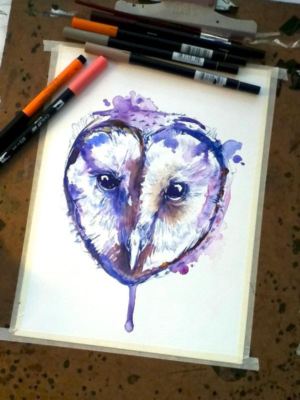 Violet Tyto by FinchFight