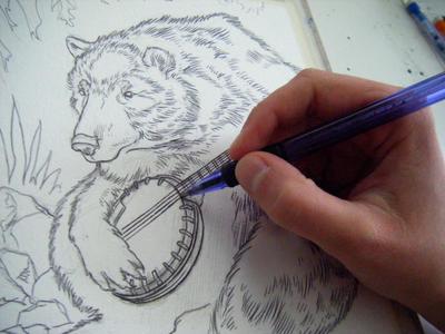 banjo bear scrap 2 by FinchFight