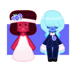 Tiny Chibi Ruby and Sapphire Wedding Edition