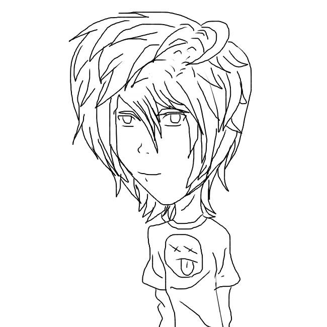 Lineart Anime Boy : Anime boy lineart by yagamilight on deviantart